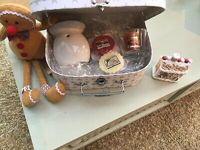 Gingerbread Case -Yankee Candle Tarts -Burner Votive Candle & Holder Xmas GIFT • 9.95£