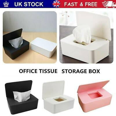 Tissue Wet Wipes Dispenser Holder Paper Storage Box Case With Lid Dustproof UK • 7.82£