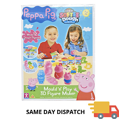 Peppa Pig Softee Dough Mould N Play 3D Figure Maker Playset New Sealed Kids Toy • 19.99£