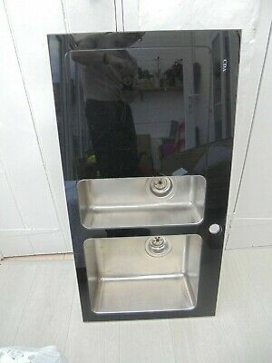 CDA Glass Sink And Double Stainless Drainers • 100£