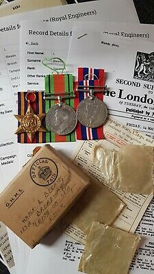Officer's WW2 Burma Star Medal Group To Major Leslie Blease, Royal Engineers  • 27£