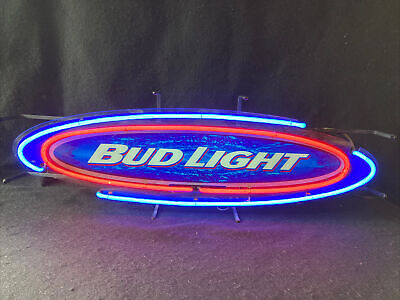 $ CDN153.15 • Buy Bud Lite Neon Sign Blue Red & White Vintage Beer Sign
