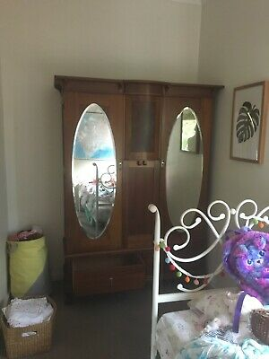 AU350 • Buy Antique Wardrobe With Mirrors
