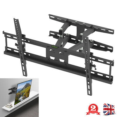 32 -70  Full Motion Cantilever TV Monitor Bracket Wall Mounted Double Arms Stand • 23.99£