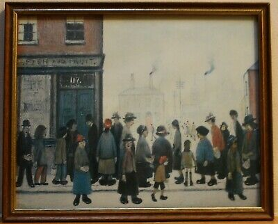Small L S LOWRY Art Print, Framed And Glazed • 5£