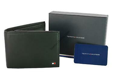 New Tommy Hilfiger Eton Bifold Leather Coin Pocket CC Wallet Black Boxed • 36.99£