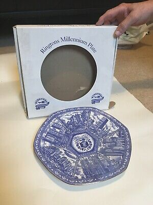 Ringtons Blue And White Millenium Plate • 0.99£