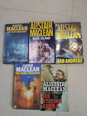 Adventure Novels By Alistair Maclean - 5 Books From 70s & 80s • 1.90£