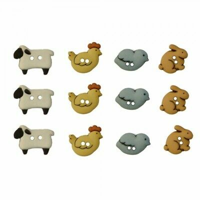 £3.09 • Buy Pack Of Country Critters Animals Dress It Up Novelty Buttons Children Crafts