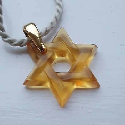 Lalique Pendant Star Of David Signed  • 41£