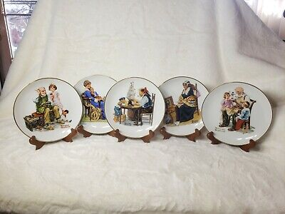 $ CDN30.49 • Buy Vintage NORMAN ROCKWELL Plates Lot MUSEUM Decorative 6.5  Porcelain Plate 1984