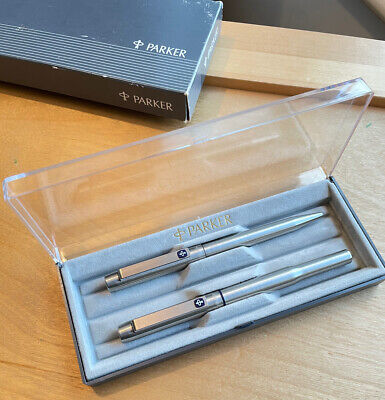 Parker 25 Flighter Fountain Pen And Ballpoint Set In Boxed • 22£