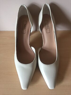 £13.99 • Buy Bnwt Marks And Spencer, Ladies, Vegan, Stone Colour Court Shoes, Size 7