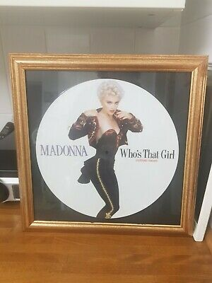 Madonna Picture Disc Who's That Girl Framed 15in X 15in Great Condition. • 25£
