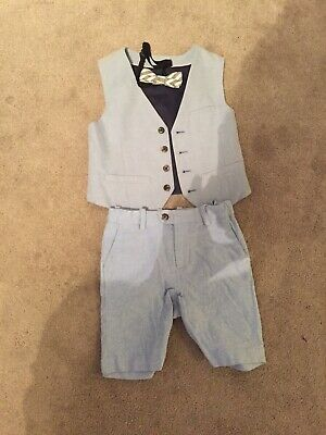 4-5Boys Suit Short With Bow • 7.20£