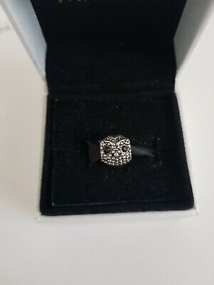 Owl With Black Crystals Charm Pandora Size  Gift  • 4.50£