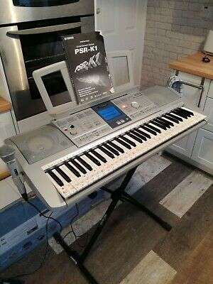YAMAHA PSR-K1 USB FLASH Full Size Electric Musical Keyboard Quality Sound *1 • 100£