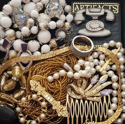 $ CDN52.25 • Buy Vintage Now Unsearched Untested NOT Junk Drawer Jewelry Lot Estate All Wear L957