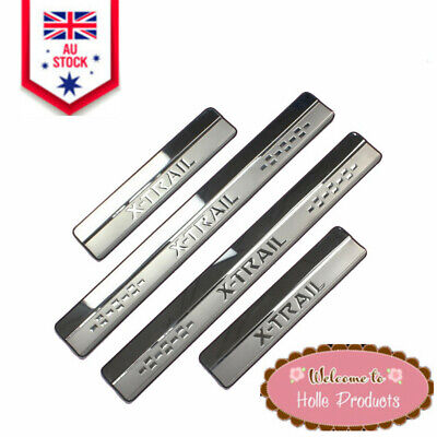 AU26.58 • Buy Car Accessories Stainless Steel Door Scuff Plate Trim For Nissan X-trail 2014-19