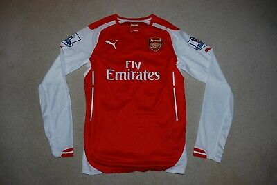 Rare Flamini Arsenal Non Actv Player Issue Home Shirt Small 14/15 Puma Ls . • 29.99£