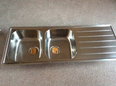 IKEA Stainless Steel Double Bowl /Single Drainer Sink Unit • 45£
