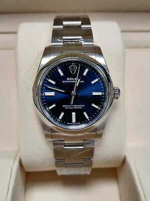 $ CDN10300.94 • Buy Rolex Oyster Perpetual 34mm Blue Dial 124200 2020 Box And Papers (47)