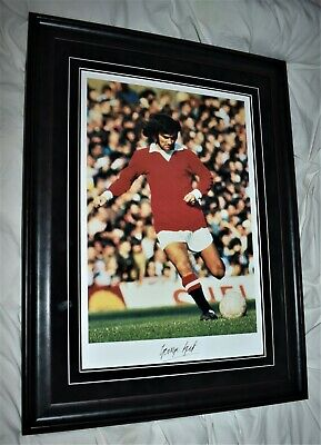 £695 • Buy George Best Signed Large Museum Standard Framed Picture With COA And Photo Proof
