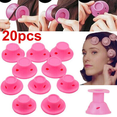 NEW 20PCS Magic Hair Curlers 2 Sets Soft DIY Silicone Rollers Care No Heat • 5.05£