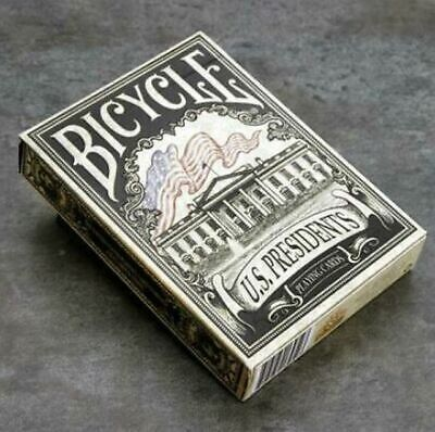 Bicycle US Presidents Poker Playing Card Deck Deluxe Embossed Collector Edition. • 8.99£