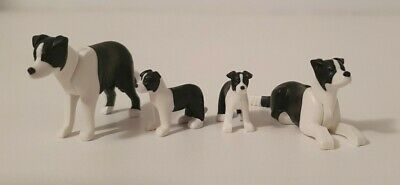 Family Of Playmobil Border Collie Dogs - Farm/ House/ City Life/ Horse/ Country • 11£