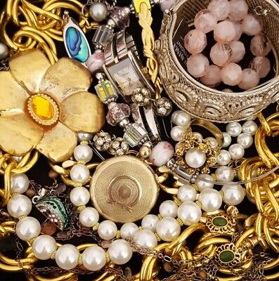 $ CDN58.79 • Buy Vintage Now Unsearched Untested NOT Junk Drawer Jewelry Lot Estate All Wear L961