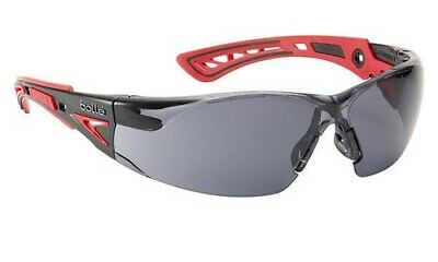 £11.60 • Buy Bolle Rush+ Platinum Smoke Tinted Lens Safety Glasses / Specs Anti Fog & Scratch