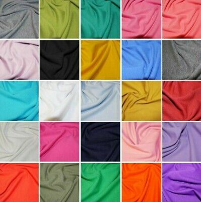 £5.59 • Buy Plain Coloured Cotton Jersey Fabric Stretch Knit Dress Sewing Craft