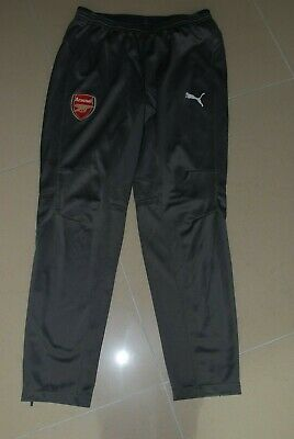 Arsenal Puma Player Issue Worn Grey Zip Tracksuit Jogging Bottoms Pants Large • 29.99£