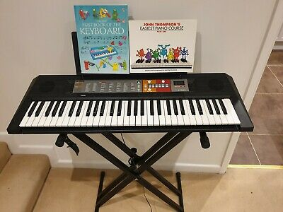 Yamaha PSR-F50 Electronic Keyboard Including Stand And Books • 8.80£