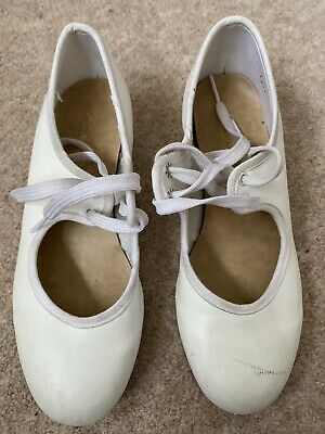 Katz White Tap Dancing Shoes Junior Size 13 • 1.50£