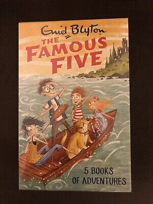 Enid Blyton The Famous Five. 5 Book Of Adventures Sealed Box Set. RRP £34.95 • 16£