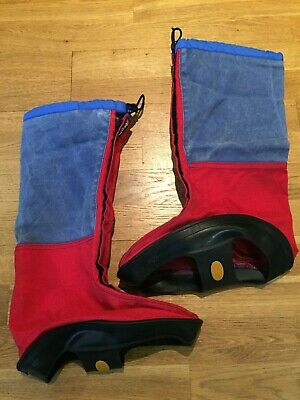 Berghaus YETI Gaiters In Red & Navy Blue Size Medium M Fits Boots 7-9 • 17.50£