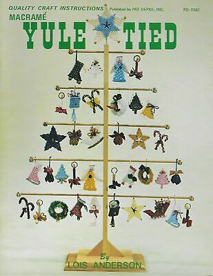$9.97 • Buy Macrame Christmas Ornaments Pattern Book Yule Tied Wall Decor Holiday Projects