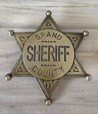 Gold Grand County Sheriff Badge / Shield • 7.99£