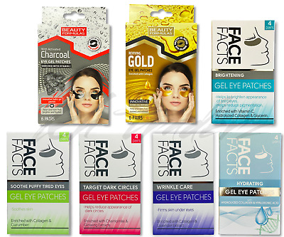 £4.49 • Buy  EYE Gel Patches CHARCOAL GOLD Collagen Crystal Gel Pad Face Anti Aging Wrinkle