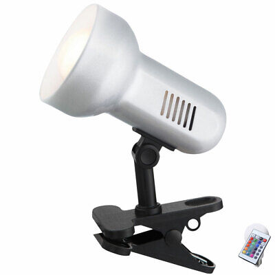 RGB LED Clamp Spotlight Reading Light Swiveling Spot Dimmable E27 Office Remote • 32.06£