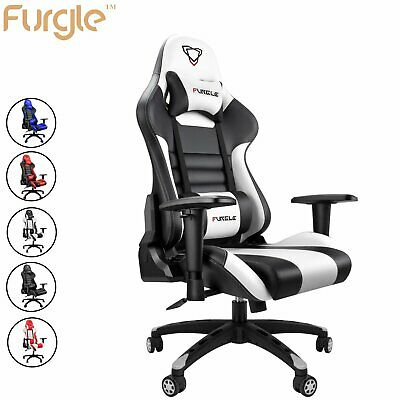 Furgle Gaming Office Chair Computer Chairs PU Leather Seat Executive Recliner • 99.99£