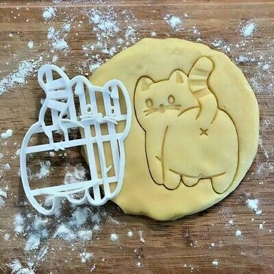 AU8.99 • Buy Kitty Cat Butt Cookie Biscuit Fondant Cutter Embosser