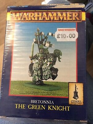 Warhammer Fantasy Bretonnian The Green Knight * Metal * PartiallyPainted * Boxed • 20£