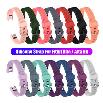 AU3.23 • Buy Wristbands Soft Bracelet For Fitbit Alta / Alta HR Silicone Watch Band Strap