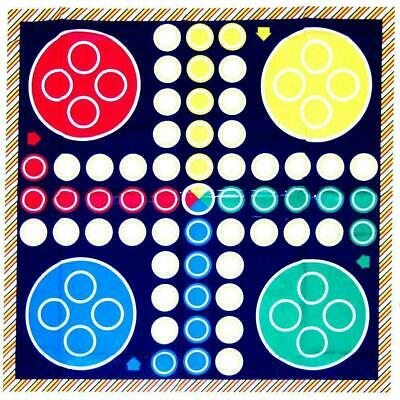 New Giant Ludo  Game Fold Out Playmat 75cm Family Game Fun Outdoor Garden Party  • 4.95£