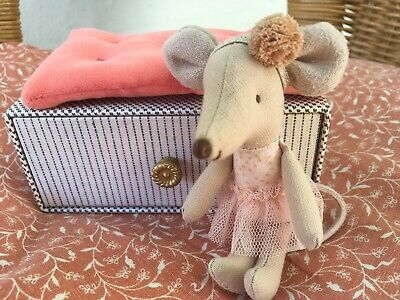 Maileg Little Sister Ballerina Mouse On Daybed  - Brand New Collectable  • 21.75£