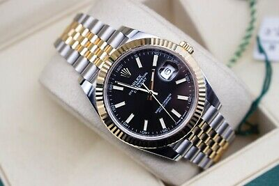 $ CDN19663.50 • Buy Rolex 126333 DateJust 41 - Black Stick Dial - Steel And Gold Jubilee - 2020