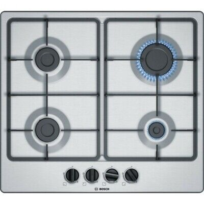 Bosch PCP6A5B90 Serie 6 Built In 58cm 4 Burners Gas Hob Stainless Steel • 150£